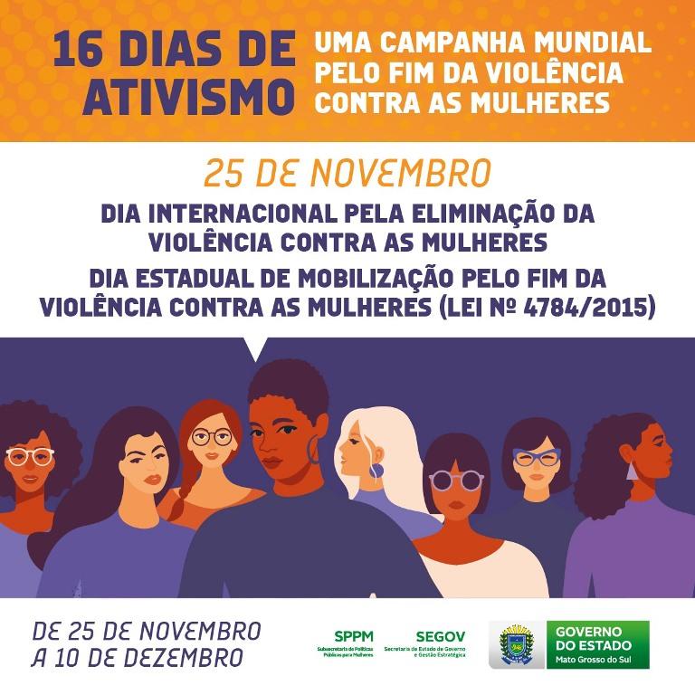 Campanha 16 dias de Ativismo está sendo desenvolvida em Naviraí