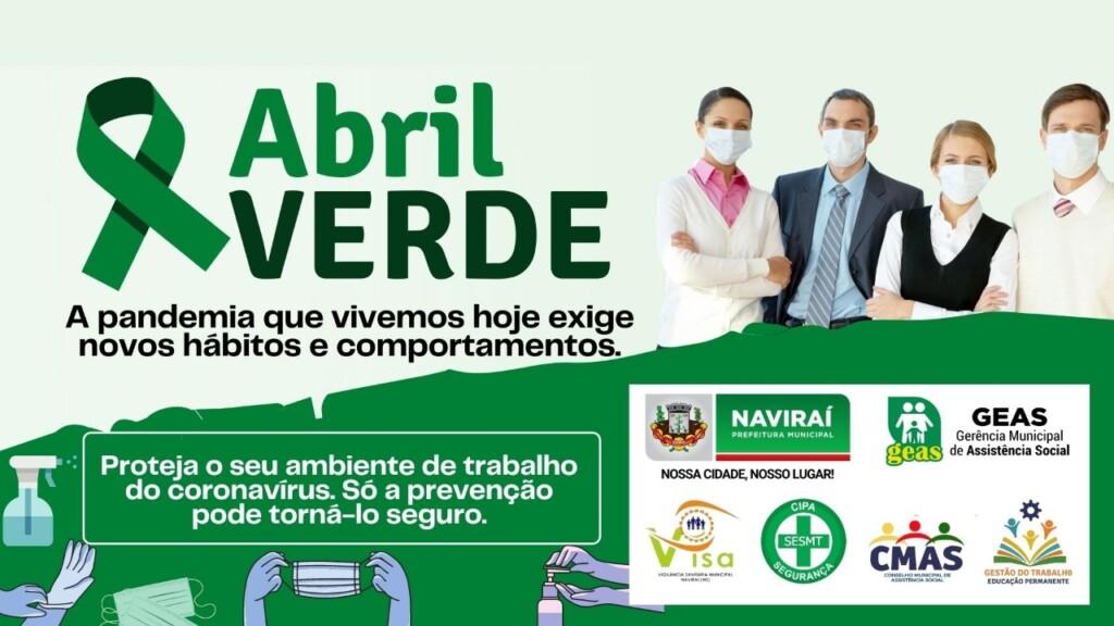 """Assistência Social de Naviraí realiza a campanha """"Abril Verde"""""""
