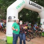 Prefeita Rhaiza e Eugenio Guedes - 1º Cross Triatlo da Independência de Naviraí